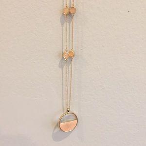 Francesca's Pink/Gold Necklace